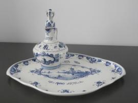 Serveerblad en kruikje , De Porceleyne Fles 1900
