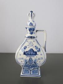 Hartvormige BOLS likeurfles uit 1905 van De Porceleyne Fles
