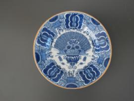 345; Pauwenstaartbord,  'De vergulde Blompot' 1694 -1841