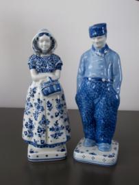 Boer en boerin (groot) , De Porceleyne Fles 1979