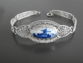 Zilveren filigrain armband uit Atelier C. Verwoerd te Gouda