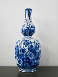 308; Geribde vaas  38 cm, De Porceleyne Fles, 1969