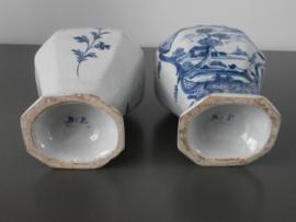 Paar balustervazen 'De Vergulde Blompot' 1615-1841
