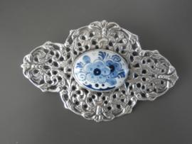 Opvallend royale zilveren broche, ca 1943