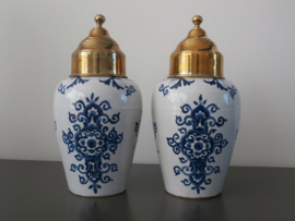 250; Decoratieve tabakspotten, antiek