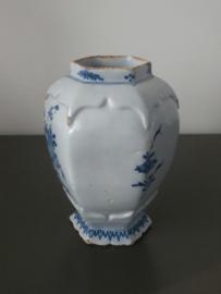 Zeskantige middelgrote vaas, 18e eeuw