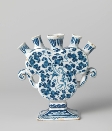 Hartvormige bijzondere tulpenvaas, Royal Makkum