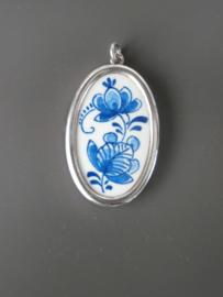 De Porceleyne Fles,  medaillon in zilveren rand