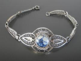 Filigrain armband met ongeglazuurde Delftse steen