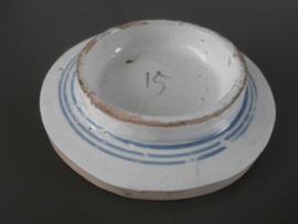 ronde uitsnede van VOC schip, ca 1700