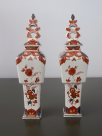229; Stel pijnacker, tinglazuur vaasjes, 1902, De Porceleyne Fles