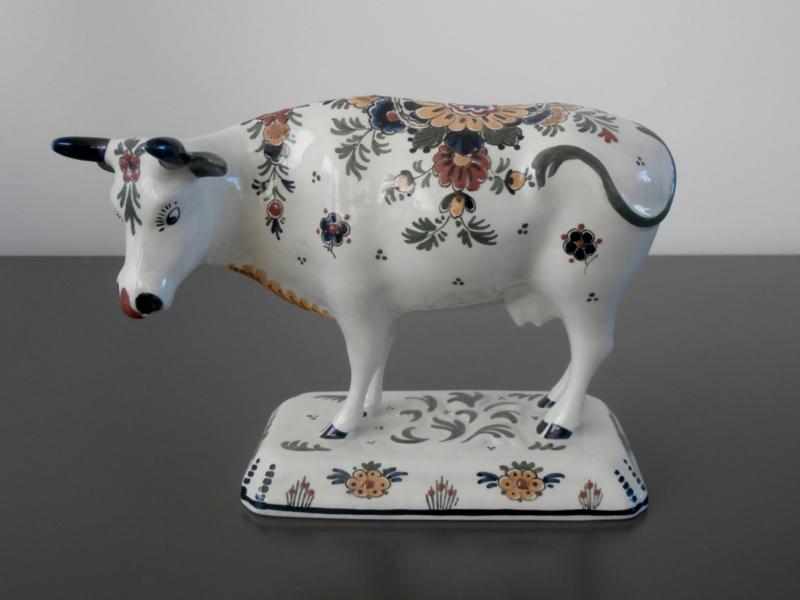 220; Meerkleurige koe groot, De Porceleyne Fles 1973