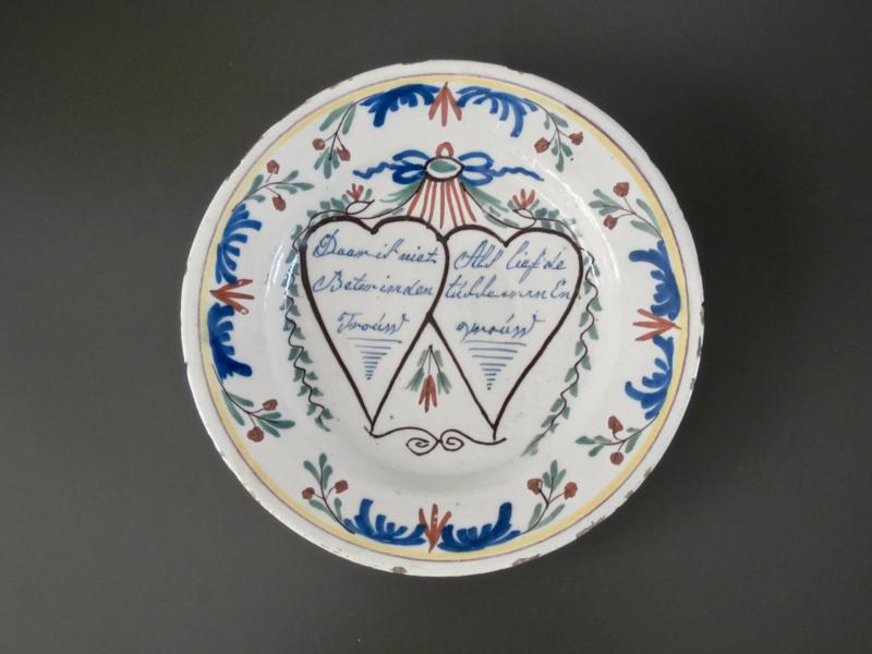 Spreukenbord, ca 1780-1820