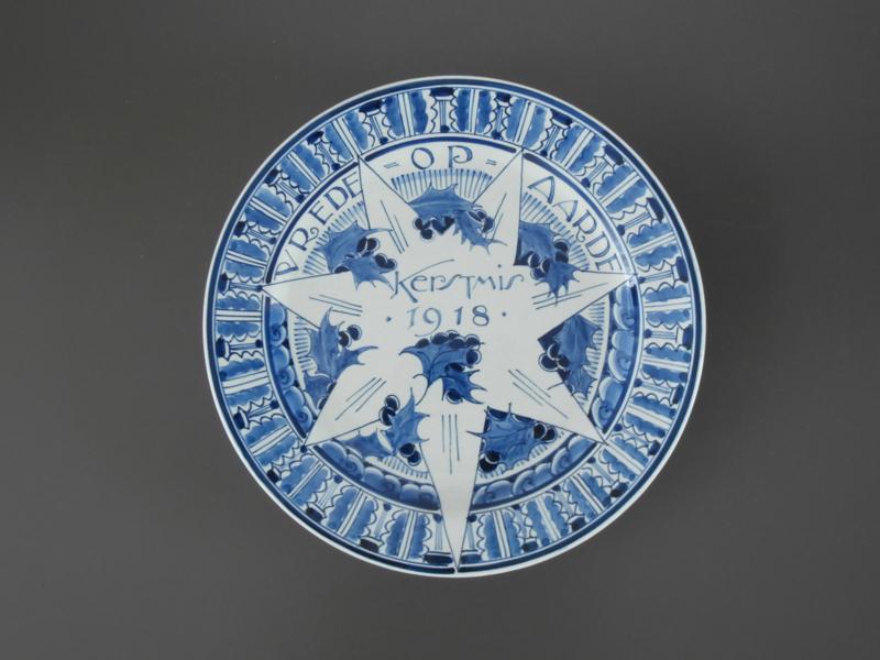 1918 Kerstbord De Porceleyne Fles