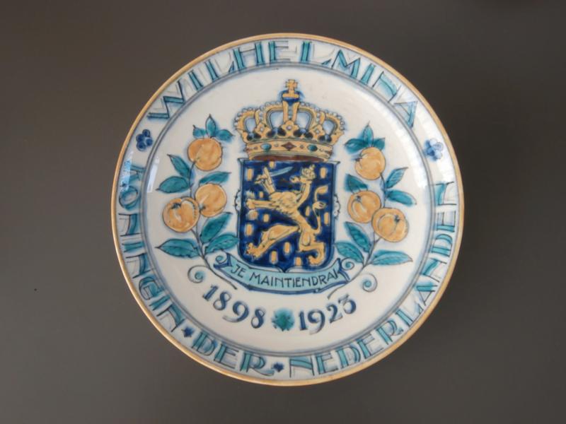 Herdenkingsbord Wilhelmina, De Porceleyne Fles