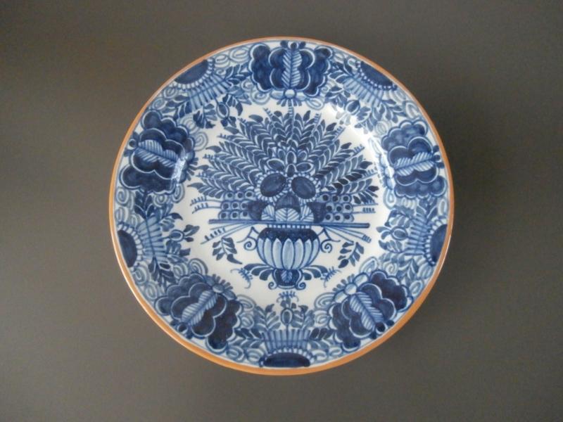 194; Pauwenstaart bord, Tichelaar Makkum