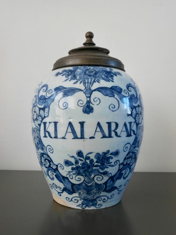 298; Delftse tabakspot,  1740-1775, 'De Roos'.