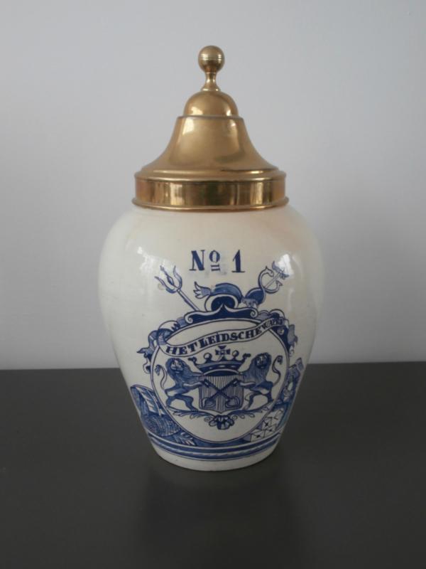 287; Tabakspot uit Leyden, De Porceleyne Fles, ca 1850