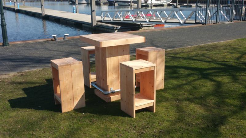 Statafel Met 4 Krukken.Set Statafel Met 4 Krukken Tuinmeubelen Lucasa Design