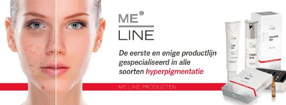 me-line hyperpigmentatie