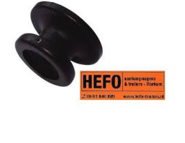 Rondknop zwart Ø 25 mm voor spanrubbers