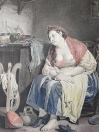 PE Moitte naar het schilderij (1757) van Jean-Baptiste Greuze