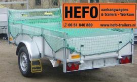 HEFO aanhangwagen net -  250 x 140 cm. mazen 45 x 45 mm. met elastiek rondom