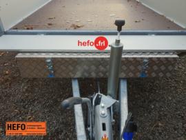 Aluminium dissel opbergkist - voor HENRA, Hapert en Saris 120x38x19 cm.