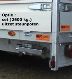 KP 3500 kg. tandem *PARABOOL vering* 3.51 x 1.85 mtr.