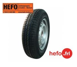 reservewiel 145/80 R13/100x4 - GT serie 500/750-1500 kg.