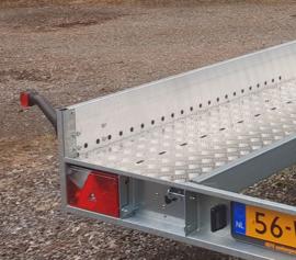 HEFO geremde steigeraanhanger 190/250 cm.