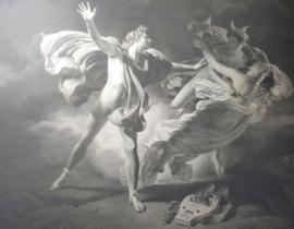 Antieke, grote, gravure; Orpheus and Eurydice
