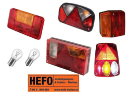 complete achterlichten, losse kapjes, lampjes en toebehoren