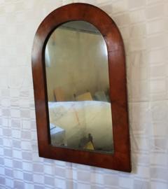 Antieke spiegel met mahonie fineer op eikenhout ca.1820-1840