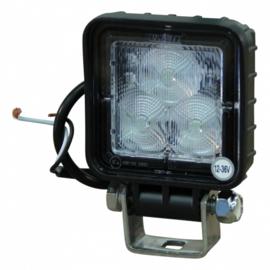 LED werklamp achterop gemonteerd