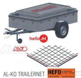 ALKO aanhanger net -  220 x 150 cm. mazen 25 x 25 mm. met elastiek rondom
