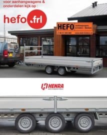 PLATEAUWAGENS   Henra PL  serie: t/m 4.01x2.48 mtr.