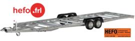 5.40 x 2.44 mtr. / tandemas/ chassis tussen de wielen