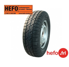 reservewiel 185/70 R13/100x4 - GT serie 1200 kg.