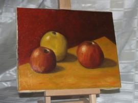 Decoratief fruit stilleven - olieverf op doek gesigneerd