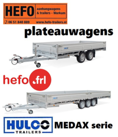 PLATEAUWAGENS   Hulco Medax -  serie tandem -en 3 assers