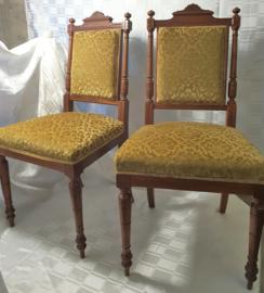 Set, van 2, eiken Edwardian dames stoeltjes 1900-1910
