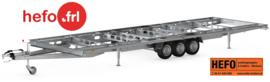 5.40 x 2.44 mtr. / tandemas/ wielen onder het chassis