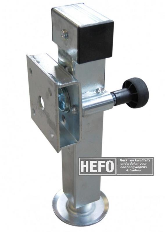 WW uitklapbare steunpoot (2600 kg. p.set) - bevestigingsplaat afstand 42 mm.