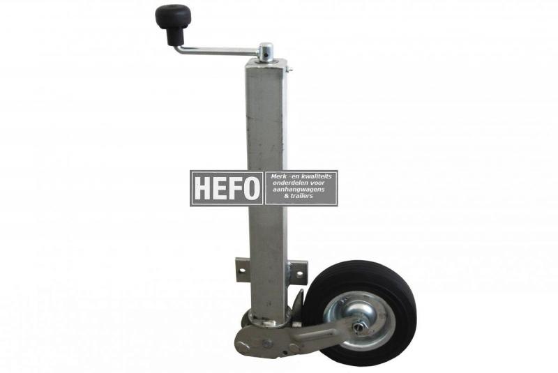 WW Neuswiel / steunwiel autom. opklapbaar 60 mm. 2 gaats