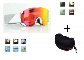 Skibril snowboard Goggles lens spiegel rood frame Wit Z type 1 Cat. 3 tot 4 - ☀/☁