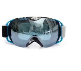 Skibril luxe lens silver blauw evo frame blauw X type 8