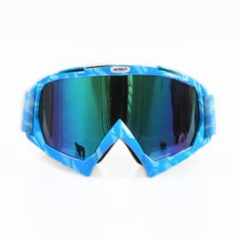 Skibril  luxe lens blauw  evo frame blauw N type 7