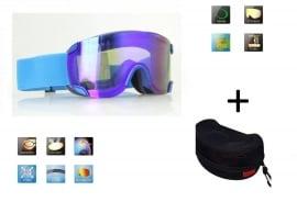 Skibril snowboard Goggles lens spiegel blauw frame Blauw Z type 3 Cat. 3 tot 4 - ☀/☁