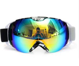 Skibril  luxe lens geel blauw evo frame wit X type 5